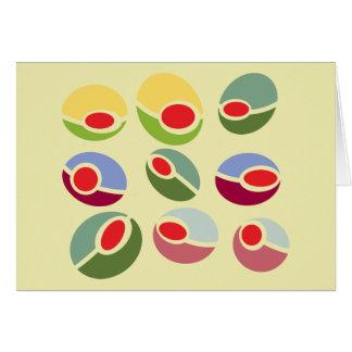 Carte Olives abstraites de mod
