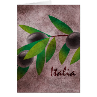 Carte Olives de l'Italie