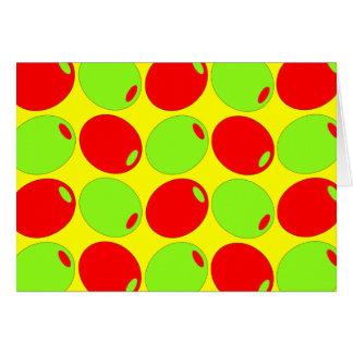 Carte Olives rouges et vertes