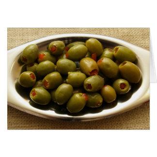 Carte Olives vertes bourrées