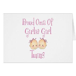 Carte Oma fier des jumelles de fille
