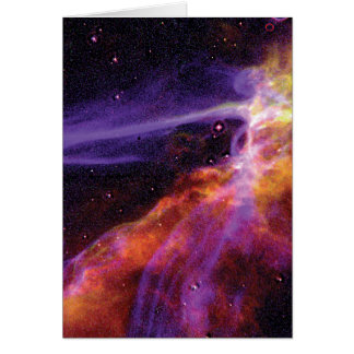 Carte Onde de choc cosmique colorée de supernova de