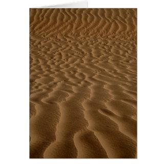Carte Ondulations de sable