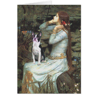Carte Ophélie et - Boston Terrier