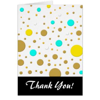 Carte Or blanc de turquoise jaune aléatoire de points