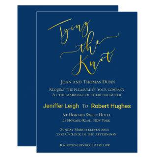 Carte Or de calligraphie attachant le mariage