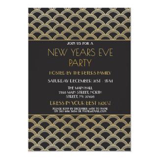 Carte or de partie d'invitation d'Ève de nouvelles