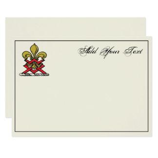 Carte Or de très bon goût Crest Fleur de Lis Emblem