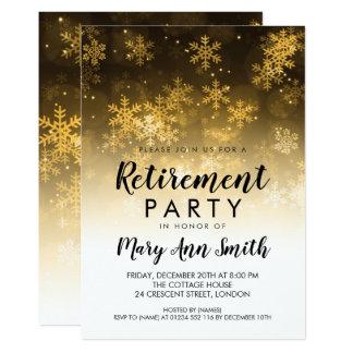 Carte Or d'étincelle de vacances de partie de retraite