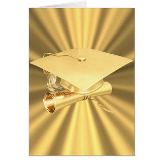 Carte-Or d'obtention du diplôme Carte De Vœux