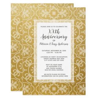 Carte Or moderne de motif cinquantième de fête