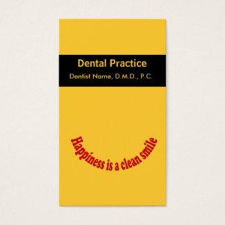 Carte orale de rendez-vous de soin de dentiste