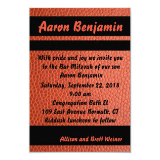 Carte Orange d'invitation de Mitzvah de barre de cercles