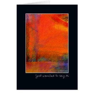 Carte Orange-Encadrer-Bonjour