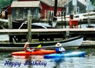 Carte Bleue Kayak.Cartes Kayak D Anniversaire Zazzle Be