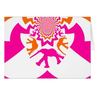 Carte Orange géniale de roses indien de kaléidoscope