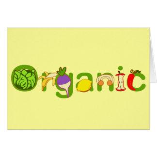 Carte Organique