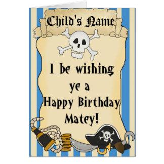 Carte orientée 2 de joyeux anniversaire d'enfant
