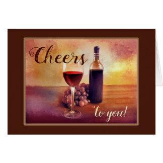 Carte orientée de félicitations de vin original