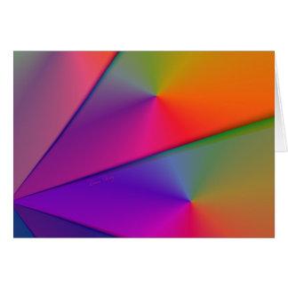 Carte Origami d'arc-en-ciel - remous d'indigo et de