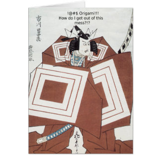 Carte ! Origami de @#$ ! ! !