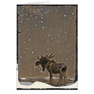 Carte Orignaux dans la neige
