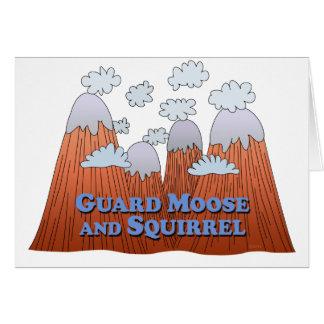 Carte Orignaux de garde et écureuil - obscurité