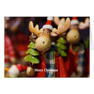 Carte Orignaux du père noël de Joyeux Noël
