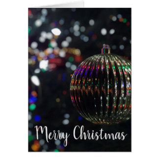 Carte Ornement argenté de Noël