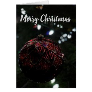 Carte Ornement de rouge de Noël