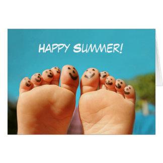 Carte Orteils heureux d'été