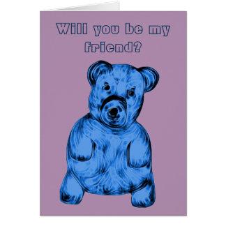 Carte Ours bourré par bleu