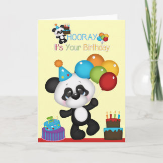 Panda Bear Hooray It's Your Birthday