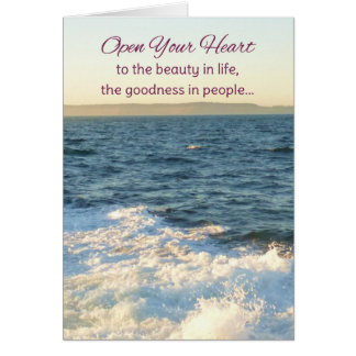 Carte Ouvrez votre coeur… inspiré