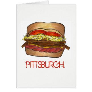 Carte PA de fin gourmet de sandwich à PGH Pittsburgh