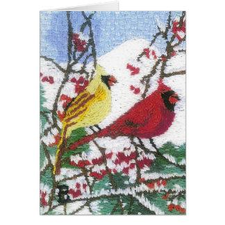 Carte Paires cardinales dans la neige de montagne