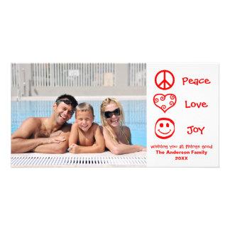 Carte Paix, amour, joie - Photocard