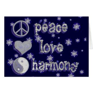 Carte Paix, amour, salutation d'harmonie