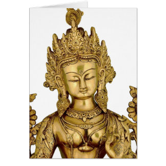 Carte Paix bouddhiste d'art du Thibet de yoga de déesse