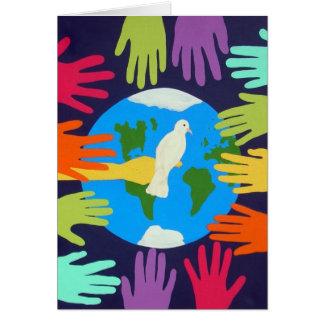 Carte Paix sur terre