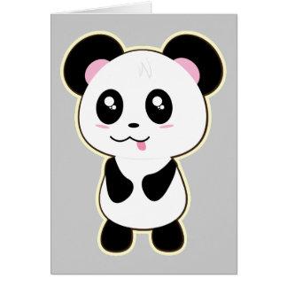 Carte Panda de Kawaii mignon