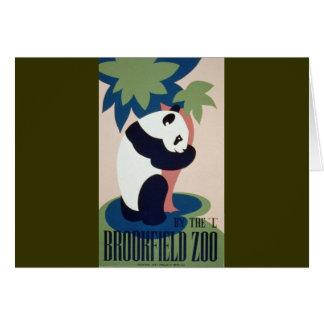 Carte Panda de zoo de Brookfield