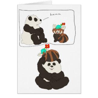 Carte Panda rouge de panda