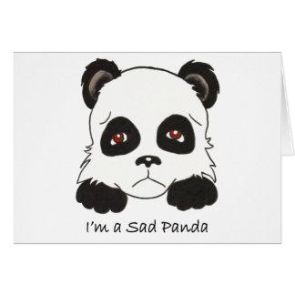 Carte Panda triste