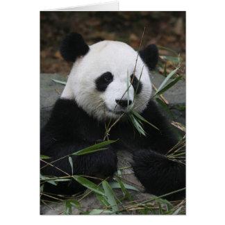 Carte Pandas géants à la protection de panda géant et