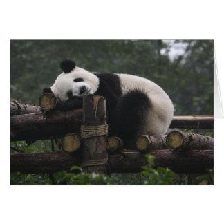 Carte Pandas géants à la protection et aux 3 de panda