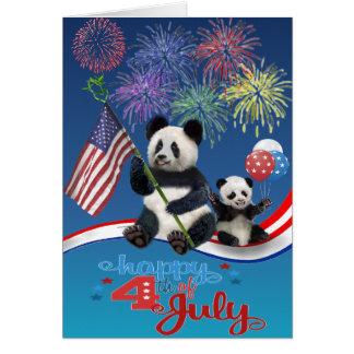 Carte Pandas patriotiques