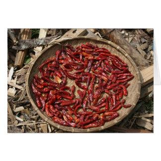 Carte panier de piments