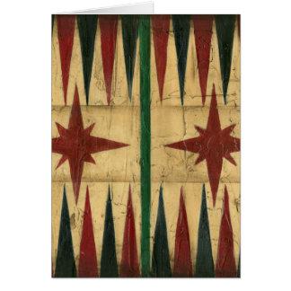 Carte Panneau antique de jeu de backgammon par le
