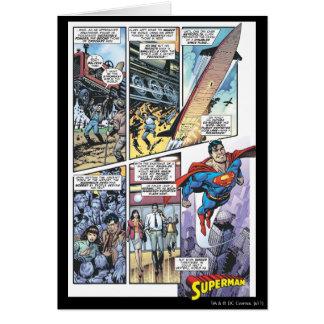 Carte Panneau comique de Superman - les origines 2 de